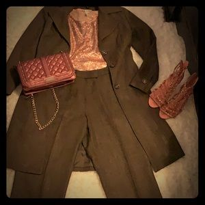 Suit long jacket with matching dress pants